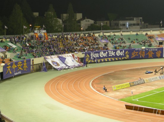 No shrinking Violets: Anyang's home support