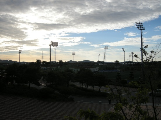 The sun sets on the Mokpo Football Center