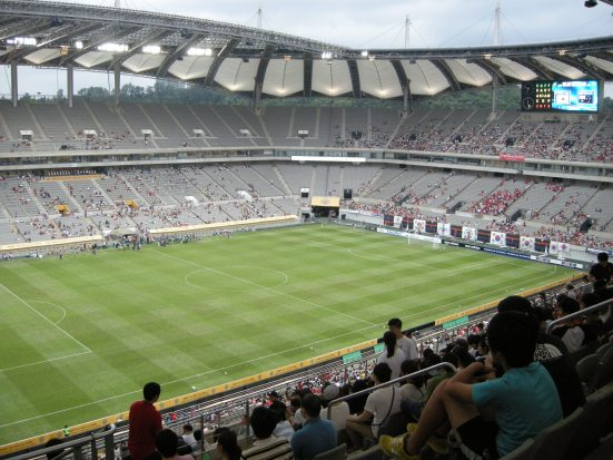 A sparsely populated Seoul World Cup Stadium