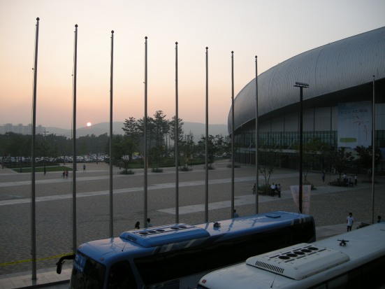 Sunset from Hwaseong Stadium