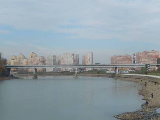 Krasnodar river and bridge