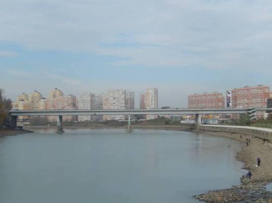 Krasnodar river and bridge