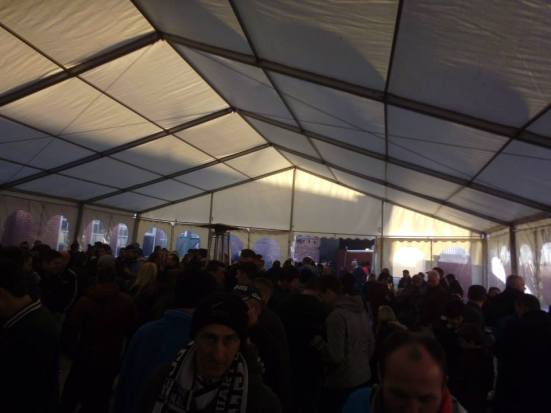 Inside the beer tent