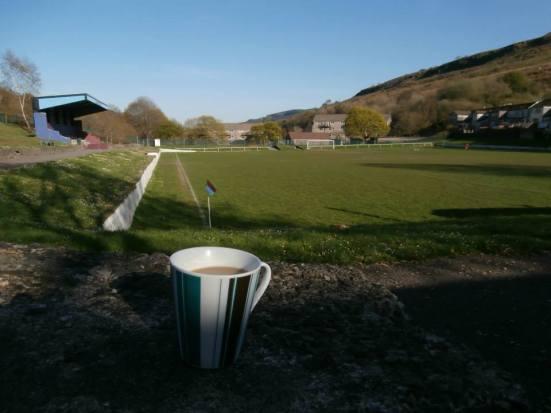 My prematch mug of coffee.