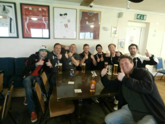 Good lads at Aberdare Town and certainly enjoyed the postmatch drinks with them.