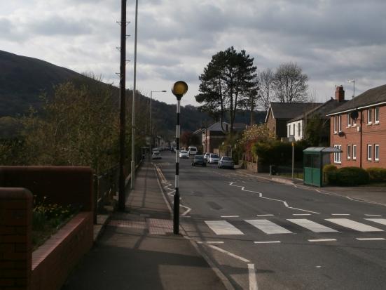 Walking through Taffs Well village.