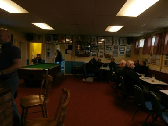 Inside the club bar.