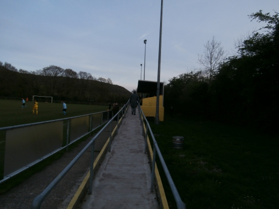 The ramp leading up to the main stand.