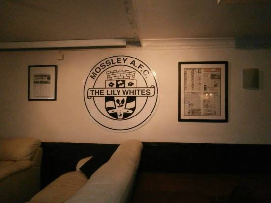 Club badge in the clubhouse.