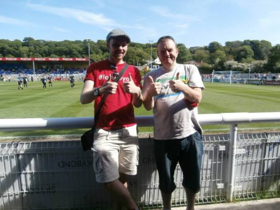 Me and Phil Stead - the writer of 'The Red Dragons - the story of Welsh Football'.