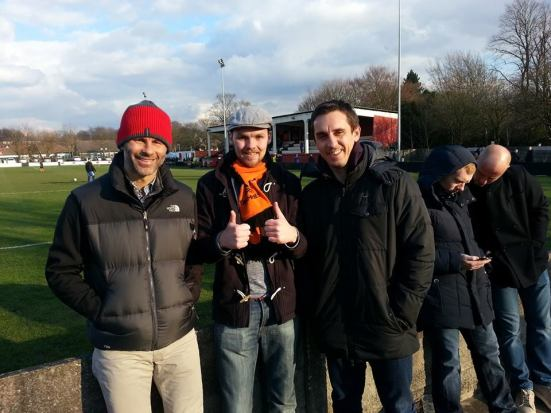 Giggsy, me and Gary Neville (both refused to do a thumbs up pose).