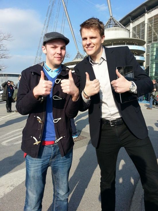 Me and Jake outside the Etihad.