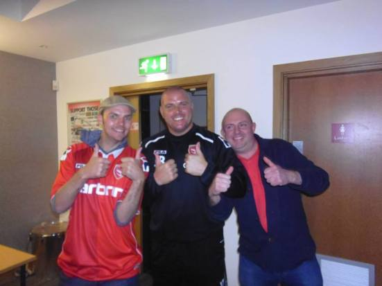 This guy is a legend! Morecambe manager, Jim Bentley.
