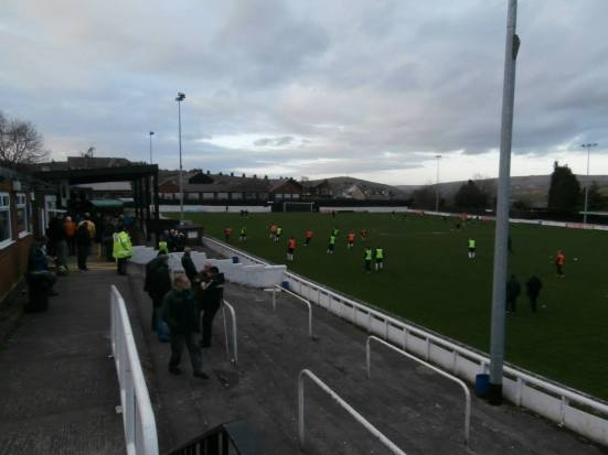 My favourite new ground that I visited this season: Seel Park - home of Mossley AFC.