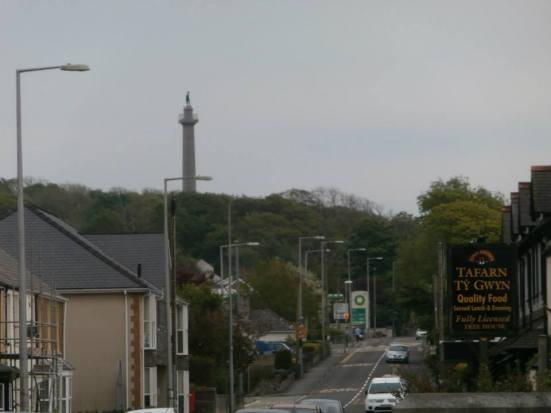 Main road through Llanfairpwll village.