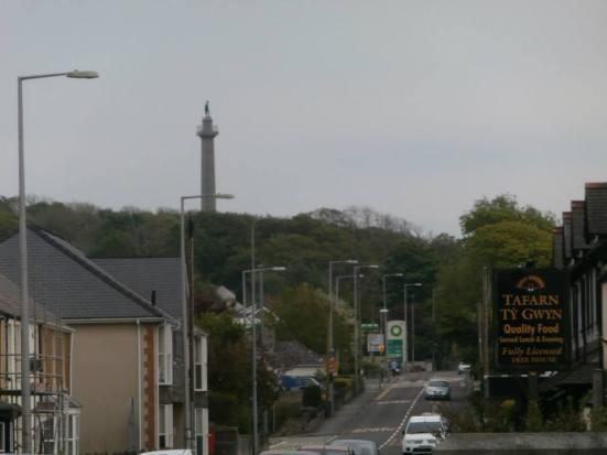 Main road through Llanfairpwll village.