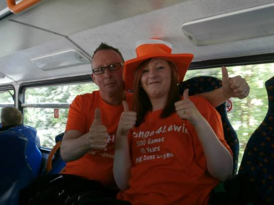 MK Dons fans were #Orange4Lewie for the day.