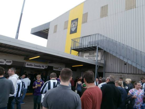 The open concourse in in the corner of the Kop.