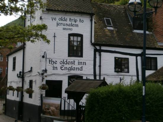 Ye Olde Trip to Jerusalem - apparently the oldest inn in England.