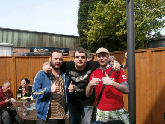 Me with Stu in the middle along with his other County mate.