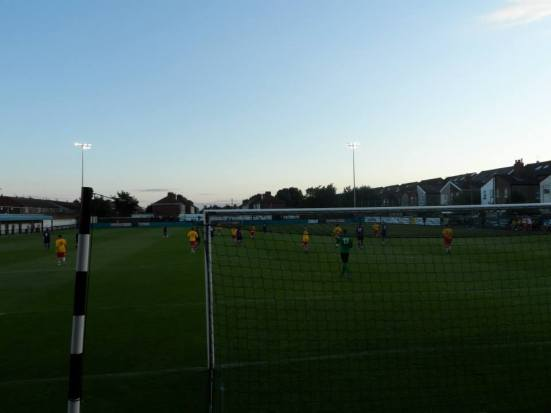 The sun sets on the Arriva Stadium.
