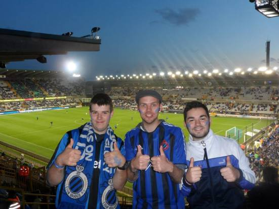 Thumbs up for Club Brugge. Jonas, me and Gibbo.