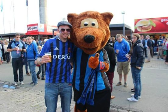 Me and one of the Brugge bears.
