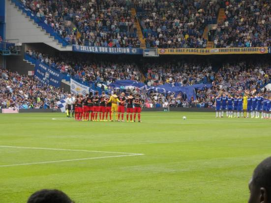 A minute's applause for big Chelsea fan Lord RIchard Attenborough.