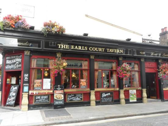My pre-11am savior: Earls Court Tavern.