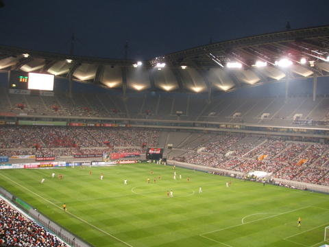A night game at Seoul World Cup Stadium
