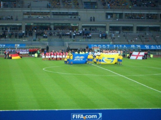 Germany and England line up