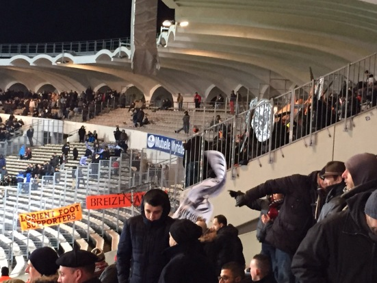 Travelling fans from Lorient