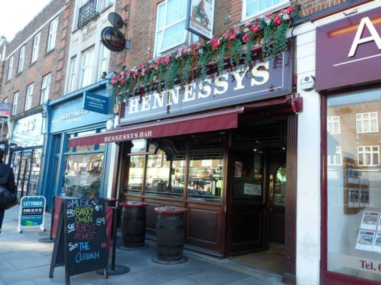 Hennessey's pub.