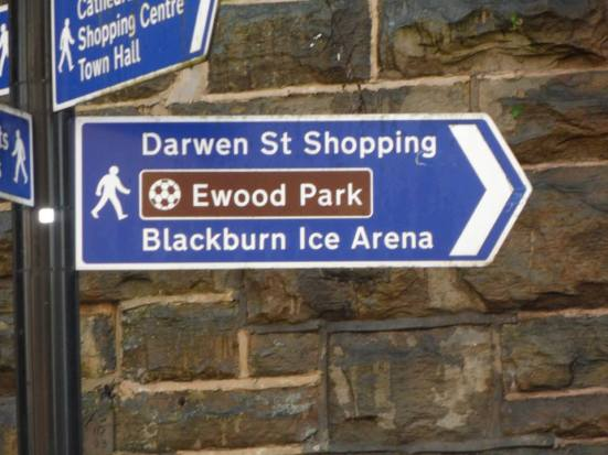 This way to Ewood Park.