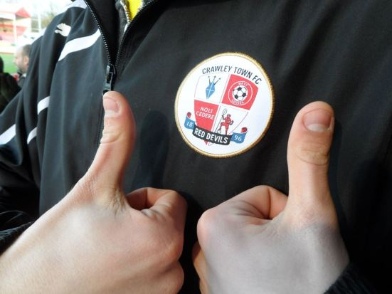 Thumbs up to Crawley Town - such a good day.