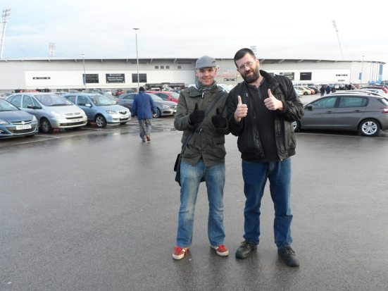 Me and Tony in the Keepmoat car park.