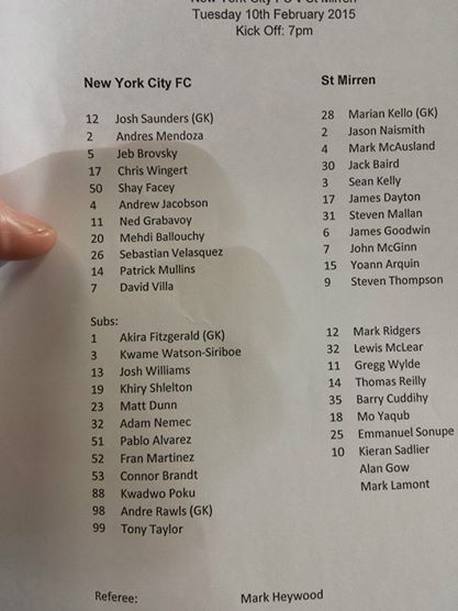 The teamsheet.