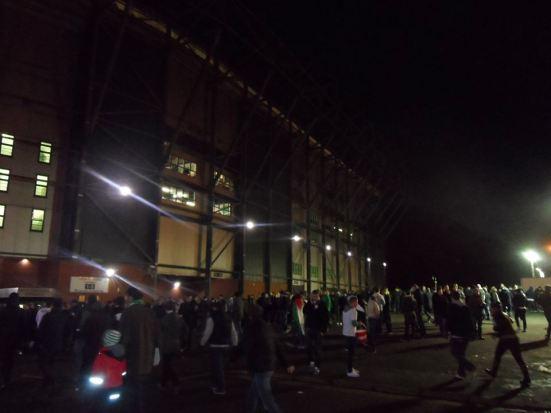 Outside Celtic Park.