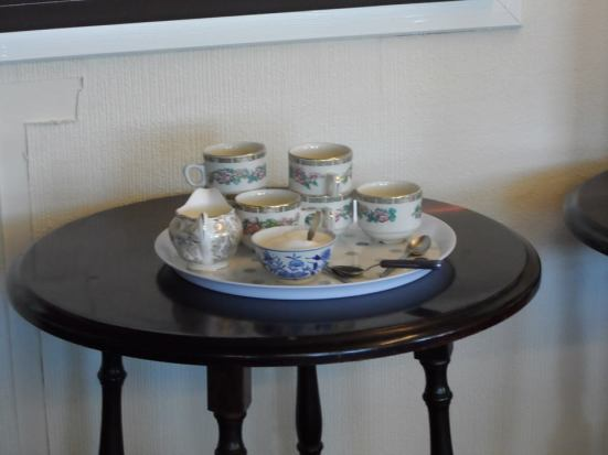 The Barnton china for the VIPs.