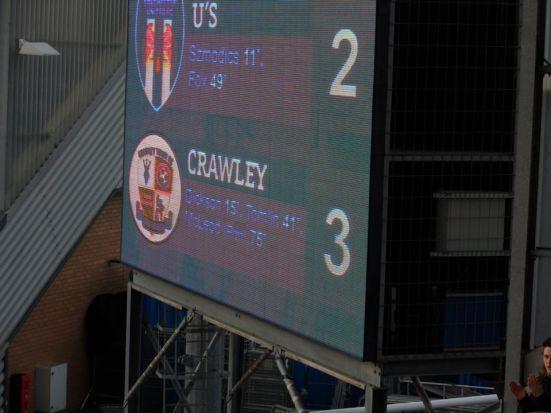 Full-time score.