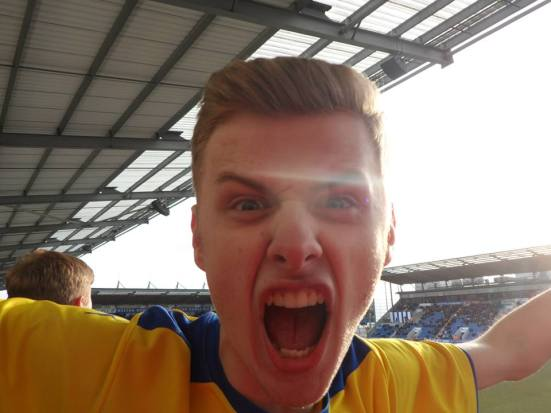 Craig going mental again. I had to put up with this lad's passionate celebrations and motions for 90 minutes.
