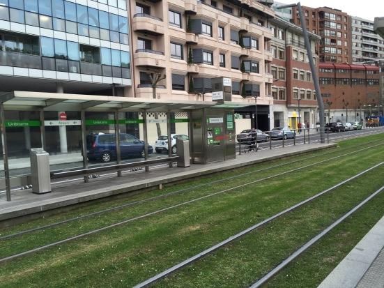 Bilbao's green tramline