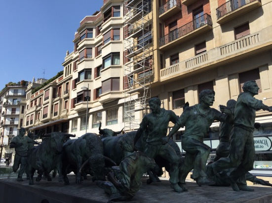 Statue to the Encierro (Running of the Bulls)