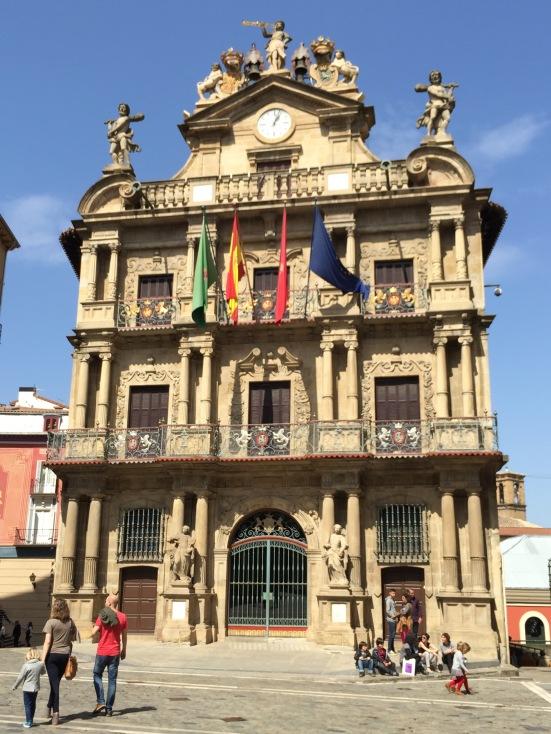 The start of the Bull Run - Pamplona City Hall