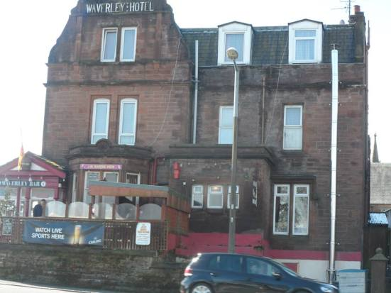 The Waverley Bar next to Dumfries station.