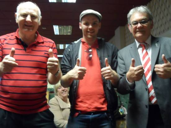 """So who are you?"" ""I'm the Crawley chairman..."". Brian, me and Crawley's chairman Dave Pottinger."