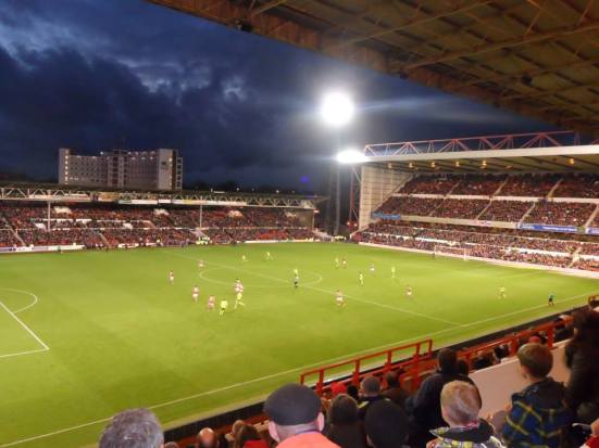 Watching the brilliant Ben Osborn play at Nottingham Forest v Norwich City.