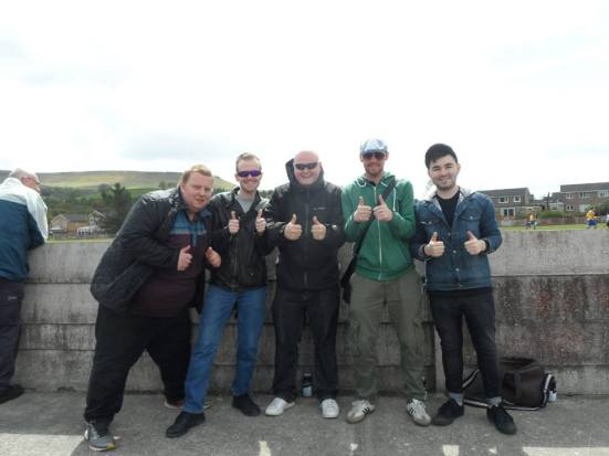 Team photo. Dan, George, Rob, me and Gibbo.