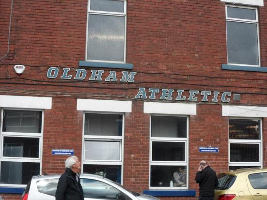 Boundary Park - the home of Oldham Athletic.