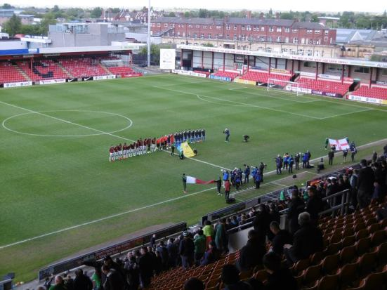The teams are out.